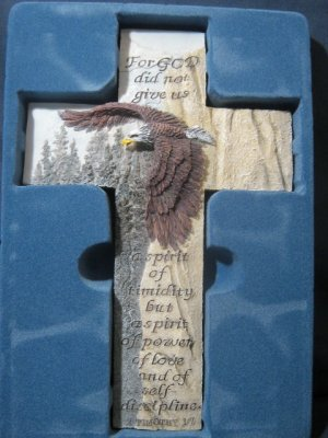 Cross Bless-Us Collection Eagle 2Tim 1:7 10x6.75in  #004964