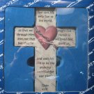 Cross Bless-Us Collection Heart 1 John 4:10 God Sent His Son  #007637