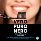 NERO Premium Charcoal Whitening Black Toothpaste Made in Italy