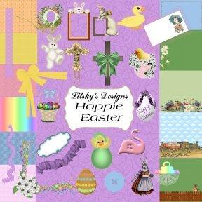 """""""Hoppie Easter"""" Full Digital Scrapbook Kit"""