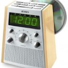 Jensen AM/FM Stereo Dual Alarm CD Clock Radio