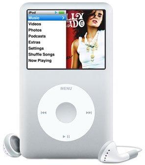 iPod classic 80GB Portable MP3 Player, Generation 6 - Silver