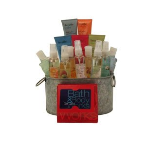 Bath and Body Sampler Gift Baskets with Bath and Body works Gift Card