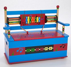 Musical Toy Box Bench