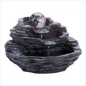 Rock Waterfall Fountain With Ball