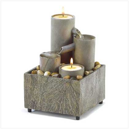 Small Tealight Pillar Fountain