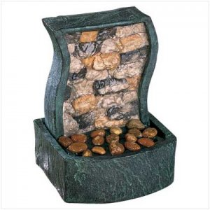 Rock Wall Table Fountain