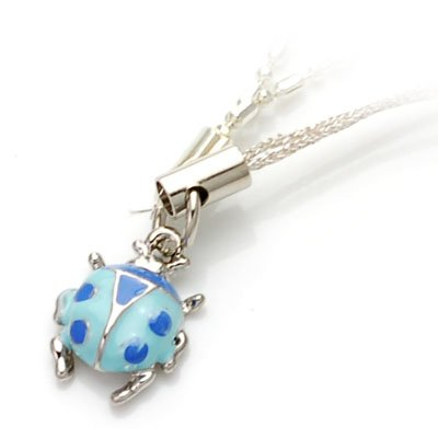 axsj10005 Lady bug cell phone accessory (blue)