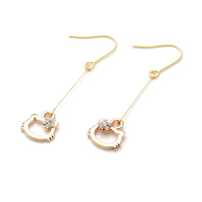 exsj1003 Golden Kitty Earring