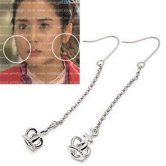 exsj1020 Long Crown Earring
