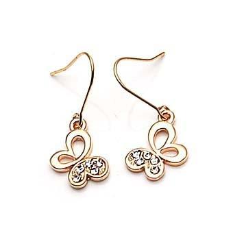exsj1023 Golden Butterfly Earring