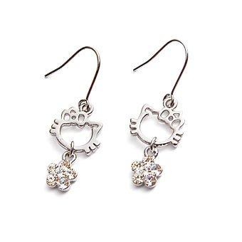 exsj1024 Sliver Kitty Earring