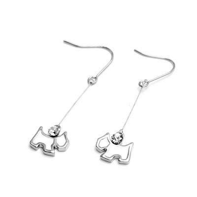 exsj1040 Sliver Doggy Earring