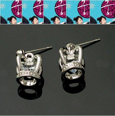 exsj1064 Small Crown Earring
