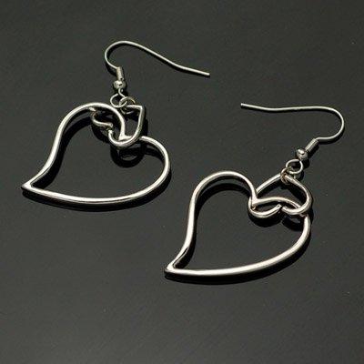 exsj1067 Heart Link Earring