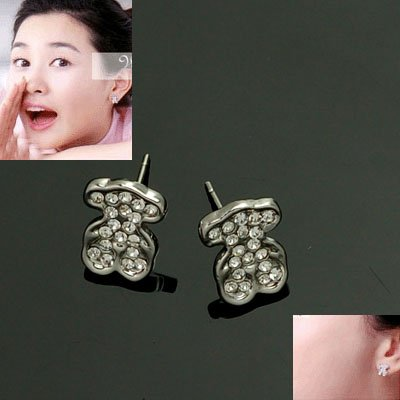 exsj1073 TOUS Crystal Bear Earring
