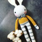 Amigurumi crochet handmade Long leg Rabbit doll gift for kids