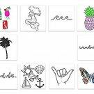 INKED By Dani Temporary Tattoos, Boho Choker Pack