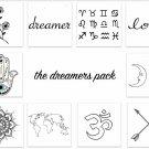 INKED by Dani Temporary Tattoos Boho Choker Pack
