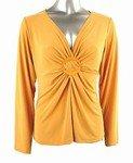 Stretch knit v-neck top(Plus Size)-0001MS-LZ014-b2b