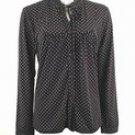 Polka-Dot Print Stretch Knit Shirt (Plus Size)-0208BK-JA304-b2b
