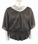 Shimmery Stretch Knit Top (Plus Size)-0226BK-JA104-b2b