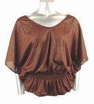 Shimmery Stretch Knit Top (Plus Size)-0226BR-JA104-b2b