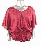 Shimmery Stretch Knit Top (Plus Size)-0226WN-JA104-b2b