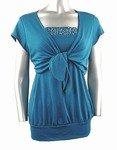 Stretch Knit Cardigan Set (Plus Size)-4161BL-ES001-b2b