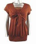 Stretch Knit Cardigan Set (Plus Size)-4161BR-ES001-b2b