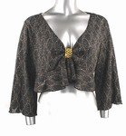Light-Weight Shimmery Sweater (Plus Size)-4656BK-ES104-b2b