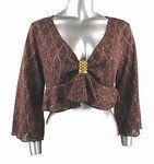 Light-Weight Shimmery Sweater (Plus Size)-4656BR-ES104-b2b