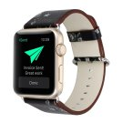40mm 38mm Black/Gray PU Leather Apple Watch Strap [RNCCS32852688387BLKGRY38]