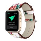 44mm 42mm White/Red PU Leather Apple Watch Strap [RNCCS32852688387WHTRED42]