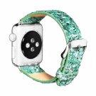 40mm 38mm Green Glitter & PU Leather Apple Watch Strap [RNCCS32852017184GRN38]