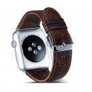 42mm Dark Brown/Coffee Leather Apple Watch Band[RNCCS32852796619SLIMDRKBRN42]