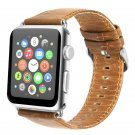 38mm Brown Slim Leather Apple Watch Band[RNCCS32852796619SLIMBRN38]