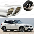 Silver Car Exhaust Muffler Tip Tail Pipe End Trim New for BMW X1 2010-2015
