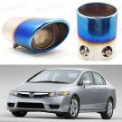 Car Exhaust Muffler Tip Tail Pipe End Trim for Honda Civic Sedan 2006-2011