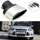 Silver Car Exhaust Muffler Tip Tail Pipe End Trim for Ford Focus 2011-2016
