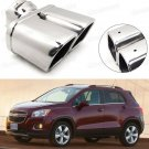 Double Outlets Exhaust Muffler Tip Tail Pipe for Chevrolet Trax 2014-2017