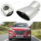 Silver Car Exhaust Muffler Tip Tail Pipe Trim for Hyundai Tucson 2016-2017