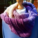 Handmade Womens Lightweight Autumn/Fall Infinity Scarf in shades of Pinks and Purples