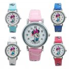 Minnie Mickey Mouse 3D Silicone PU Leather Band Quartz Boys Girls Wristwatch