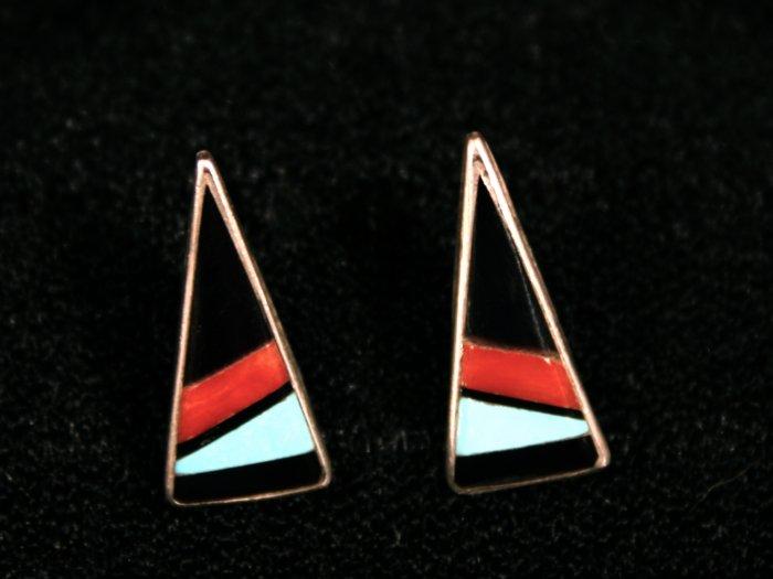 Triangle Handmade Indian Earrings-1