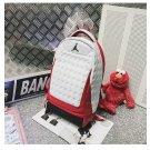 Air Jordan Retro Basketball Backpack White University Red
