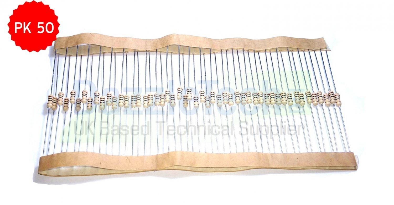 Resistor Carbon Film 0.25W 1/4W choose value 100R 5% Pack of 50