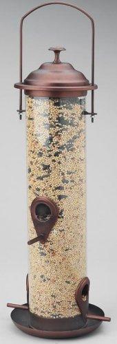 Wyndham House Bronze Colored Cylindrical Bird Feeder