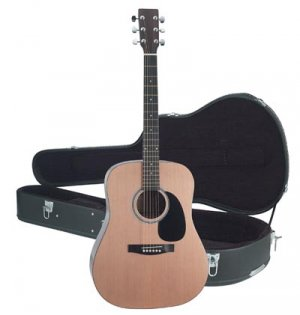 "Maxam 40"" Acoustic Guitar with case"