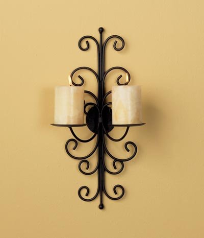 Luca Bella Wrought Iron Wall Sconce